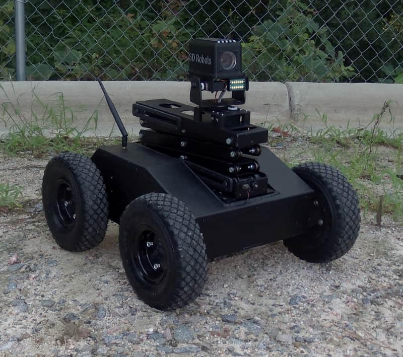New 4wd Tactical Scissor Lift Robot With Ptz Camera
