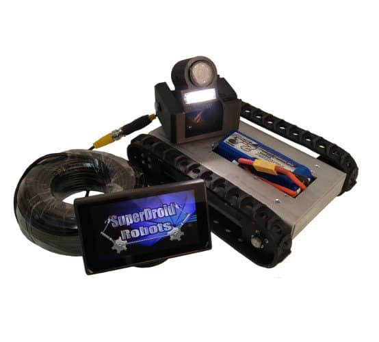 SST Tracked Robot With LCD