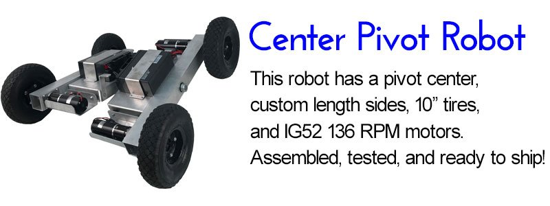 Center Pivot SuperDroid Robots 4WD ATR Robot