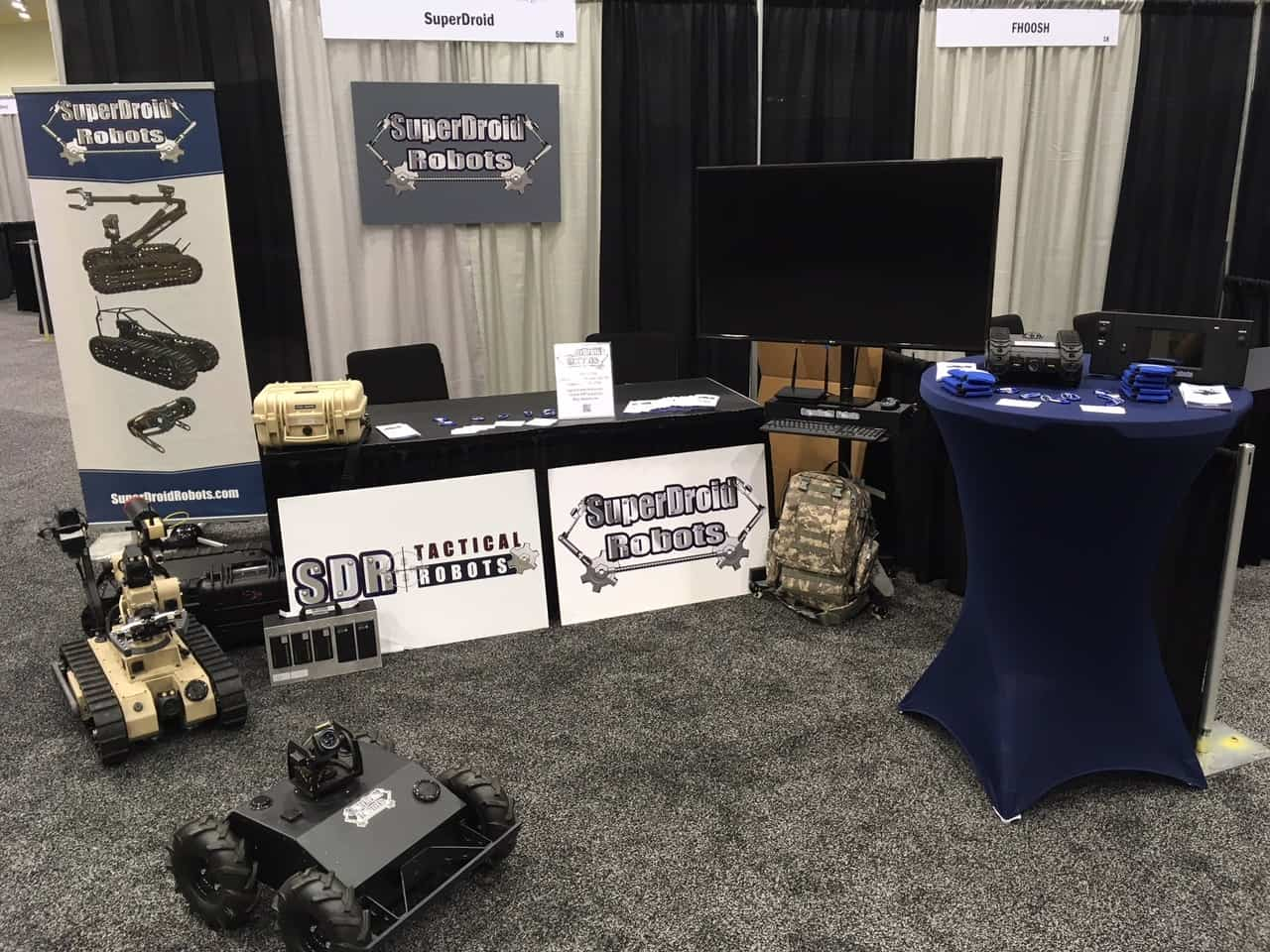 SuperDroid Robots OCR2018 booth